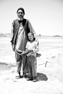 father and son. Desert zones close to Birjand- Iran 2013