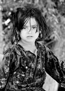 the Afghan girl. Desert zones close to Isfahan- Iran 2013