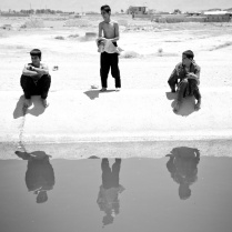 The reflexes in water. Ici, a small village next to the city of Share Rez Iran. 2013